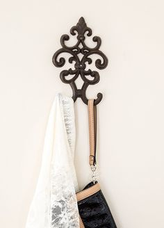 """Amazon.com: Cast Iron Vintage Double Wall Hook 
