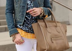 Sequins and gingham