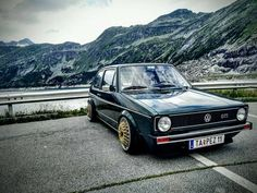 The Art of MK1 Volkswagen Golf Mk1, Vw Mk1, Volkswagen Models, Bbs, Golf 1, Typography Poster, Custom Cars, Style, Cars