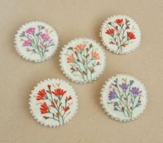 brooches felt brooch hand embroidered brooch by LauraArtandCraft
