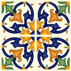 "Majolica Spanish Tiles   Barcelona La Merced Quarter 6"" x 6"" Hand Painted Ceramic Tile                                                                                                                                                                                 Mais"