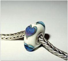 Luccicare Lampwork Bead  Hearts   Lined with Sterling by Luccicare