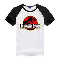 Jurassic Park movie world Logo similar to movie appearance Tee T-Shirt Cotton