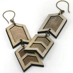 Military Chevron Earrings