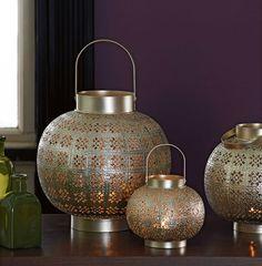 A sample of stunning lanterns found in store at Suri Interiors
