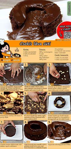 Easy Chocolate Lava Cake, Chocolate Desserts, Chocolate Mousse Cheesecake, Lava Cake Recipes, Jaffa Cake, Custard Desserts, Molten Lava Cakes, Biscuit Recipe, Creative Food