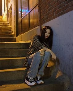 Poses, Korean Girl, Asian Girl, Kpop Fashion, Fashion Outfits, Seulgi Instagram, Red Velvet Seulgi, Outfits With Converse, Mode Outfits