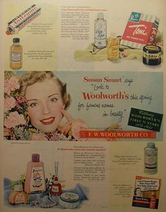 1954 WOOLWORTH'S vintage advertisement Health & Beauty Aids F.W. Woolworth 1950s by Christian Montone, via Flickr