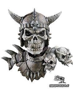 #Totenkopf Maske Kronos #Halloween #skull #zombie http://www.horrormasken24.de/Halloween-Masken/