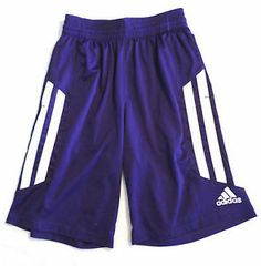 Mens Size S Adidas Climalite Athletic Short, Purple/White, Basketball /Soccer