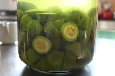 I collected my green walnuts for Nocino (green walnut liqueur) and I'm about to try last year's batch. See my recipe clicking on the photo! Enjoy!