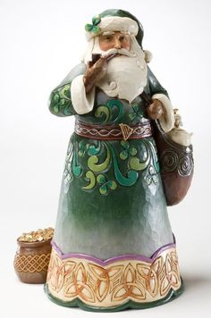 Irish Traditions - Green Irish Santa - Jim Shore