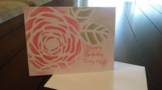 Red Cat Cards: Video Tutorial - Happy Birthday To My Wife Flower Card
