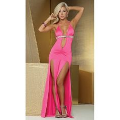 Be the star in our sexy Long Dress with sequin bustline. Halter neck and back ties to provide a perfect fit. Deep plunging neckline scrunch stitched fitted bodice and sexy dual slits. Dance the night away in this stunning long dress. Club Dresses, Sexy Dresses, Formal Dresses, Amazing Dresses, Long Dresses, Sexy Outfits, Halter Gown, Halter Neck, Pink Gowns
