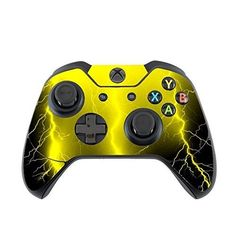 Cool Yellow Thunder Design Pattern Print Image Xbox One Controller Vinyl Decal Sticker Skin by Trendy Accessories Custom Xbox One Controller, Xbox Wireless Controller, Game Controller, Nintendo Ds, Nintendo Switch, Xbox One Black, Xbox One S, Xbox Accessories, Trendy Accessories