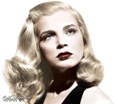 Lizabeth Scott, for Dead Reckoning, 1947, colorized photo.