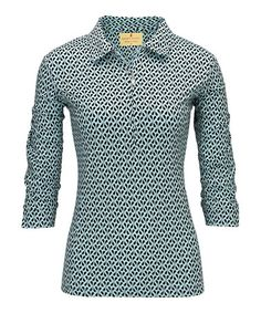 Look at this #zulilyfind! Seaspray Haley Cool Three-Quarter Sleeve Polo - Women by Sport Haley #zulilyfinds