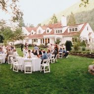 Wedding Receptions: At-Home Wedding Secrets. Good resource about things to consider when having a backyard wedding reception.