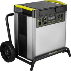 Provide an electric generator alternative with this Goal Zero Yeti 6000X power station. The MPPT charge controller easily converts solar energy to battery voltage for simple charging of devices, and the various output connectors are compatible with your refrigerator and other electronics. This Goal Zero Yeti 6000X power pack has a 6010Wh LiIon battery, letting you energize your laptop and other appliances during camping trips. Solar Powered Generator, Portable Generator, Usb Type A, Keep The Lights On, Wall Outlets, Ac Power, Alternative Energy, Solar Energy, Solar Panels