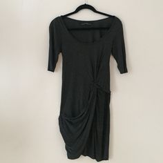 LIKE NEW gray ALLSAINTS sleeved Rivera dress LIKE NEW gray ALLSAINTS sleeved Rivera dress. Size US 2. Light and comfortable. Worn twice, washed twice. No wear, tear, or discoloration. I've bought two other similar dresses since this one and looking to make some money and space for my closet. Let me know if you have any questions! (This dress falls a little above mid-thigh.) All Saints Dresses Asymmetrical