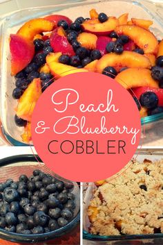 venezuelan dessert recipes, lebanese desserts recipes, asian dessert recipe - The amazing paleo peach and blueberry cobbler is so easy to make! And tastes sooo good! Paleo Dessert, Healthy Desserts, Delicious Desserts, Dessert Recipes, Yummy Food, Easy Desserts, Kolaci I Torte, Paleo Baking, Cupcakes