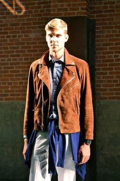 Rad motorcycle jacket at #NYFW by Ovadia and Sons SS14   VeeTravels.com  #menswear #fashion #style #mbfw