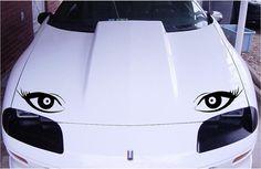 Decorative eyes car hood,window decal set in 7 colors.