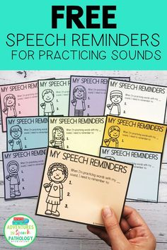 Help your children with speech carryover with these speech reminders. Use these free notes to help your students remember the cues and tips to be successful with their speech sounds. Send these home with parents, or give to teachers. Speech Activities, Speech Language Pathology, Speech Therapy Activities, Language Activities, Speech And Language, Shape Activities, Articulation Therapy, Childhood Apraxia Of Speech, Receptive Language
