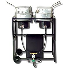 @Overstock - This outdoor cooking unit from King Kooker features two rectangular fry pans fueled by two 54,000-BTU cast burners. This outdoor cooking appliance includes LP hoses and a regulator with type 1 connector.http://www.overstock.com/Home-Garden/King-Kooker-30-inch-Dual-Frying-Cart-Package/5836473/product.html?CID=214117 $190.99