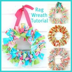 Rag Wreath: Rag Wreath Tutorial