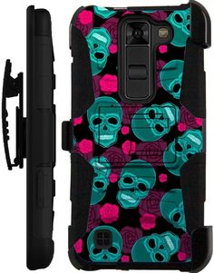 For LG Hybrid Rugged Cover Kickstand Holster Case TEAL SKULL LuxGuard   Cell Phones & Accessories, Cell Phone Accessories, Cases, Covers & Skins   eBay! Cool Phone Cases, Cell Phone Accessories, Phones, Teal, Skull, Rugs, Awesome, Amp, Cover