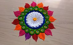 Very Easy Rangoli Design For Festival Diwali - ArtsyCraftsyDad Rangoli Designs Peacock, Rangoli Designs Simple Diwali, Rangoli Simple, Rangoli Designs Latest, Rangoli Border Designs, Small Rangoli Design, Rangoli Patterns, Rangoli Ideas, Rangoli Designs With Dots