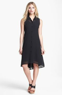 Eileen Fisher Silk Georgette Shirtdress (Regular & Petite) available at #Nordstrom