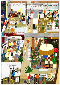 "<> ""Birthday Present"" by Illustrator Rodion Kitaev"