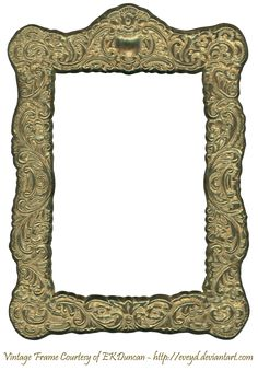 Floral Embossed Metal Frame Gold by ~EveyD on deviantART