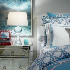 Beachy bedside bliss.