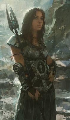 17-08-12 by *Sanchiko on deviantART [ female, warrior ]