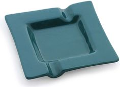 Designer Homes - Handmade Ceramic Ashtray in Teal Blue Color with 2 Cigarette Slots - Decorative Centerpieces - Home / Office Décor - Buy in Bulk Wholesale