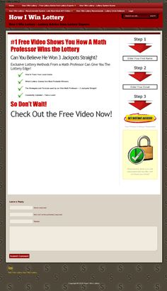 free lottery tips and newsletter help players with lottery strategy >> win the lotto --> www.howiwinlottery.com