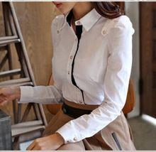 camisa camisa mujeres camisa mangas de delgada botón con 2015 primavera llenas la nueva de para qXSxSp