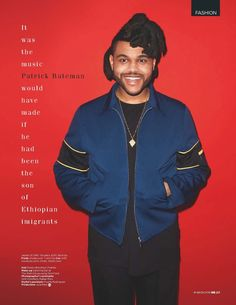 The Weeknd para British GQ marzo 2016 por Terry Richardson