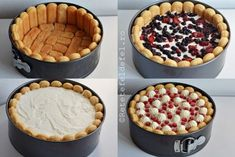 TORT CU IAURT SI FRUCTE - Rețete Fel de Fel Brze Torte, Helathy Food, Romanian Desserts, Parfait Recipes, Sweet Pie, Sweet Cakes, Sweets Recipes, Dessert Bars, Cheesecake Recipes