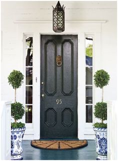 my obsession with black doors continues....