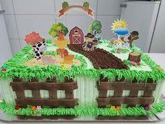 Grandma Birthday Cakes, Farm Birthday Cakes, Farm Animal Birthday, Cake Decorating Designs, Cake Designs, Farm Animal Cakes, Safari Cakes, Farm Cake, Boy Decor