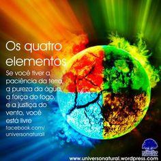 Os quatro elementos universe natural