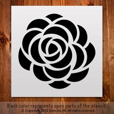 Flower Stencil. Small Stencil for DIY projects.