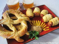"""HOMEMADE SOFT PRETZELS & PRETZEL DOGS!    Here's a dandy that's been tested and proven to be a 5 Star Winner.  This recipe is provided via """"Foodie For Two"""" especially for Opening Day of Baseball Season!   Be sure and visit the website for this one.  Melissa has some little fun tidbits about her recipe that make eating it much more fun!    INGREDIENTS        1 1/2 cups warm (110 to 115 degrees F) water      1 tablespoon sugar      2 teaspoons kosher salt      1 package active dry yeast…"""