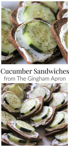 Sandwiches Cucumber Sandwiches- perfect for tea parties, grad receptions, Mother's Day, etc. Simple and delicious!Cucumber (disambiguation) A cucumber is an edible vegetable. Cucumber may also refer to: Appetizers For Party, Appetizer Recipes, Delicious Appetizers, Delicious Sandwiches, Clean Eating Snacks, Healthy Snacks, Healthy Party Foods, Savory Snacks, Healthy Eating