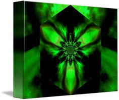 """""""Fire Lotus Green """" by Sherrie Larch, Northern California  // The lotus flower was a symbol of the sun in ancient Egypt. The lotus symbolized rebirth and renewal to the ancient Egyptians. The lotus is also found in philosophy and belief systems including Hinduism and Buddhism having various meanings by a lotus color and represents the ... // Imagekind.com -- Buy stunning fine art prints, framed prints and canvas prints directly from independent working artists and photographers."""