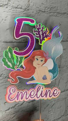Little Mermaid Cake Topper, Little Mermaid Birthday, The Little Mermaid, Cricut Cake, Frozen Wallpaper, Indian Beadwork, Arte Horror, Birthday Cake Toppers, 3 D